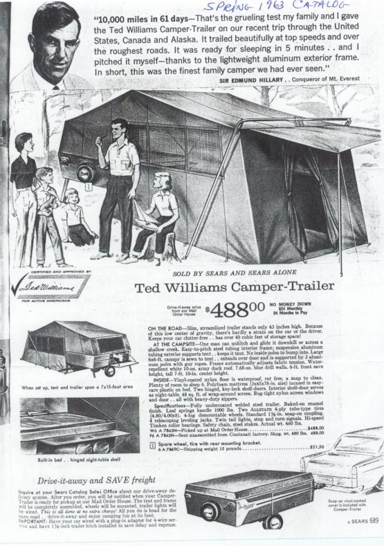 sc 1 st  MoreDoorClassics & Little Herman 1963 Ted Williams Camper - MoreDoorClassics